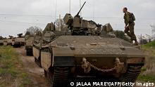 دبابات إسرائيلية على الحدود مع سوريا