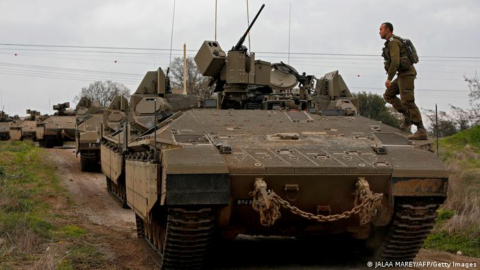 Israel Golan-Höhen Panzer-Manöver