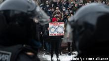 Russland Moskau | Proteste wegen Verhaftung Nawalnys