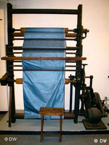 An antique silk loom