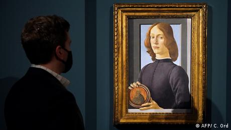 Sandro Botticelli's Young Man Holding a Roundel at Sotheby's