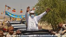 Tschad Abéché | Ankunft Präsident Idriss Déby Itno