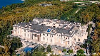 Вид сверху на так называемый дворец для Путина