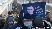 Russland | Verhaftung Nawalny | Proteste in Omsk