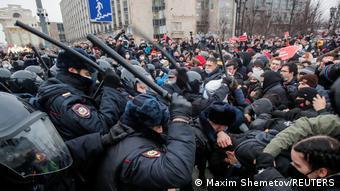 ПАРЄ засудила застосування непропорційної сили стосовно учасників протестів у Росії, що спалахнули після арешту Олексія Навального