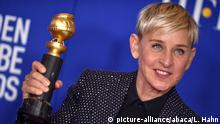05.01.2020***File photo dated January 05, 2020 of Ellen DeGeneres poses in the press room of the 77th Annual Golden Globes Awards at Beverly Hilton Hotel in Beverly Hills, California. US chat show host Ellen DeGeneres has announced that she tested positive for Covid-19. Fortunately, I'm feeling fine right now, she posted online. Her daytime programme, the Ellen DeGeneres Show, will pause production until January, according to a statement from her producers. Photo by Lionel Hahn/ABACAPRESS.COM