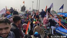 Indien I Proteste von Bauern in Neu Delhi