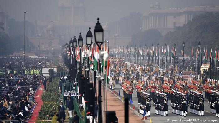 Military parade in New Delhi