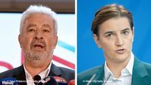 Bildkombo Zdravko Krivokapic und Ana Brnabic