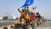 Indien Traktor Rally Zusammenstöße mit Polizei