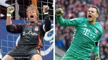 Bildkombo Torhüter FC Bayern München | Oliver Kahn und Manuel Neuer