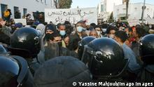 Tunesien Tunis | Proteste gegen Regierung