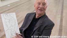 ZDF aspekte Georg Baselitz mit seiner Zeichnung Zero