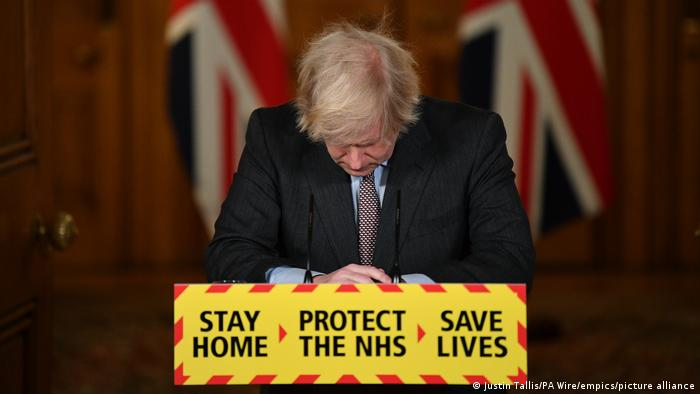 London | Boris Johnson, Pressekonferenz zum Coronavirus