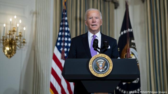 USA | Washington | Präsident Biden im Weissen Haus PK