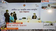 Screenshot Facebook | Bangladesch Premierministerin Sheikh Hasina startet Impfprogramm gegen COVID-19