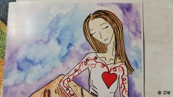 Максим Знак (юрист штаба Виктора Бабарико, член президиума Координационного совета, в СИЗО 4 месяца) прислал Катерине Толочко открытку, которую для него нарисовала сестра.