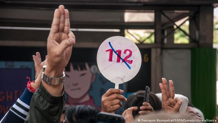 Thailand's 'three finger' protest salute