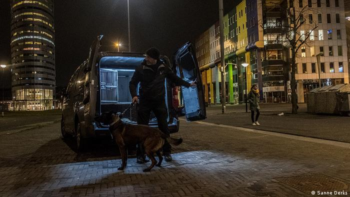 Police dog and his handler
