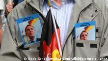 Deutschland AfD erleidet Teilniederlage gegen Verfassungsschutz | Symbolbild Flyer Björn Höcke