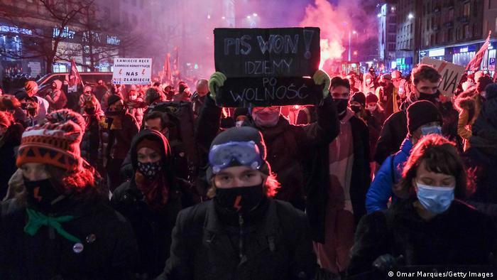 Акція протесту у Варшаві 27 січня