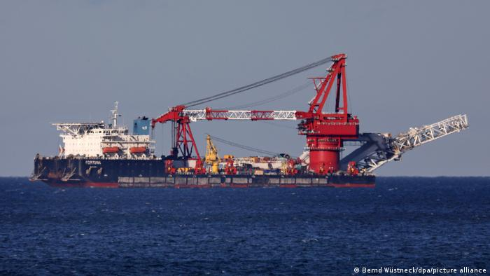 Ruski brod Fortuna nastavlja s polaganjem cijevi na dno Baltiökog mora
