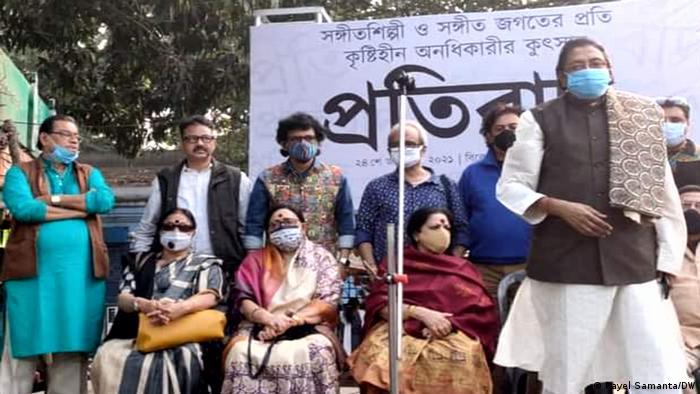 Indien Kolkata | Künstler protestieren gegen bjp-Führer