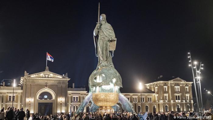 Serbien l Monument - Fertigstellung von Nemanja