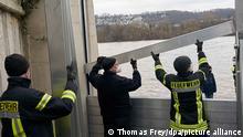 Монтаж мобильных модулей на Рейне в Кобленце