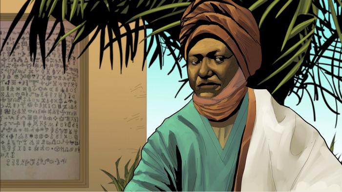 African Roots   Sultan Njoya Ibrahim   Porträt