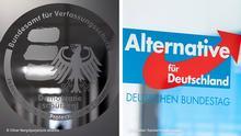 Kombobild | Logo des BfV und der AfD