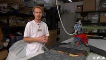 Vom Modedesigner zum Lebensretter Bas Timmers macht Mode für Obdachlose. Er produziert Rucksäcke und Jacken, die man auch als Schlafsack nutzen kann.