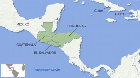 Karte Überschwemmungen in Zentralamerika Flash-Galerie