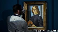 USA Auktion Junger Mann mit Medaillon von Botticelli