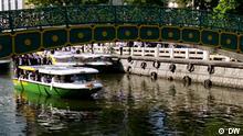 Titel: REV Green Mobility Wassertaxi Bangkok Tags: REV, Green Mobility, Wassertaxi, Bangkok, Kanal Copyright: DW