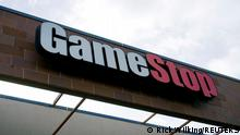 FILE PHOTO: The GameStop store sign is seen at its shop in Westminster, Colorado January 14, 2014. REUTERS/Rick Wilking/File Photo