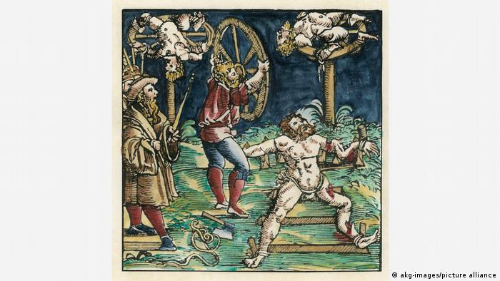 Darstellung des mittelalterlichen Räderns