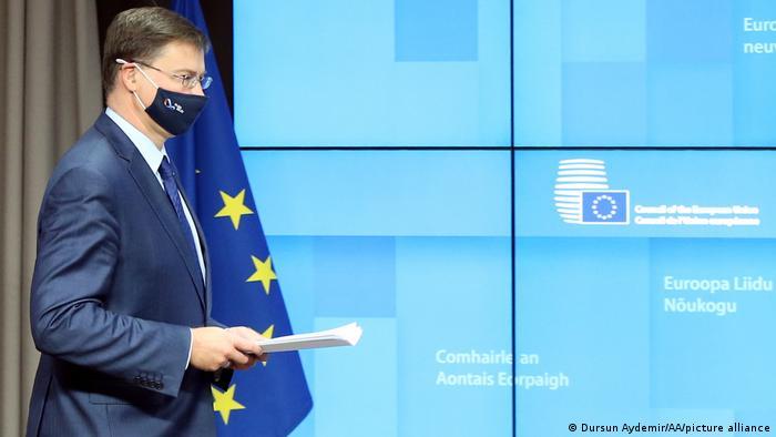 Brüssel Valdis Dombrovskis EU Kommission PK