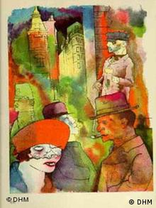 George Grosz's 1922 painting of the Weimar Republic