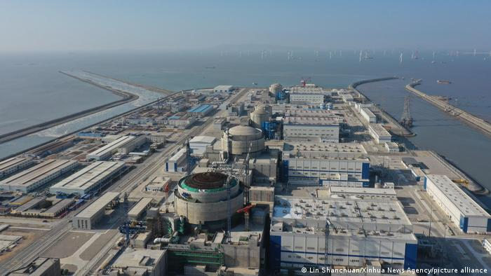 A view of Fujian Fuqing Nuclear Power Co. power             plant in China