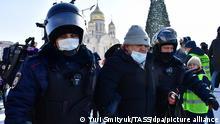 Russland Wladiwostok Proteste Navalny Anhänger