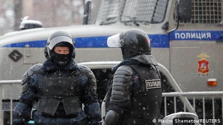 Поліція перед акцією протесту в Москві