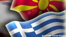 Griechenland Mazedonien Bildkombo Flaggen Fahne
