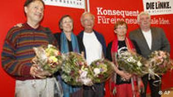 The five returned Germans at the Left Party faction of parliament