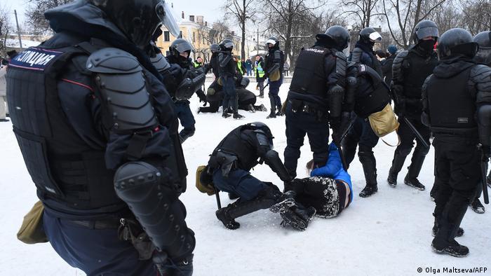 Протесты в Санкт-Петербурге 31 января