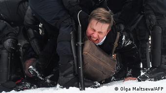 Акція на підтримку Навального в Санкт-Петербурзі