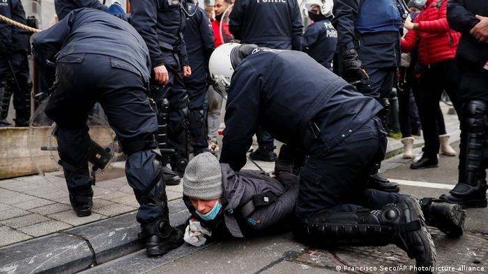 Акція протесту в Брюсселі