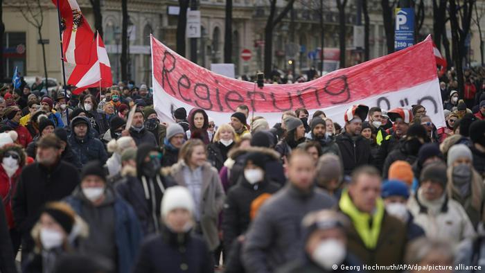 Акція протесту проти коронавірусних обмежень у Відні