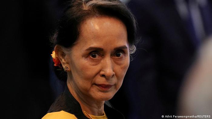 A líder civil de Mianmar Aung San Suu Kyi