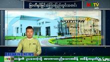 Myanmar TV Ankündigung Ausnahmeszustand